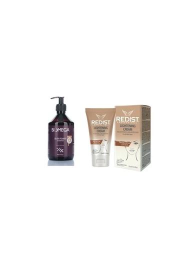 Biomega Biomega Silver Pigment Şampuan 500 Ml+Redist Lightening Cilt Beyazlatıcı Krem 75 Ml Renksiz